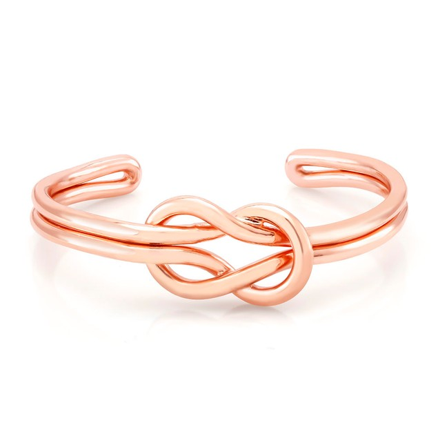 Rose Gold Plated Knot Cuff Bracelet