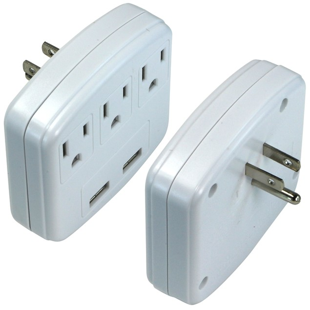 2 Pack: Plug & Power Charging Station with 2 USB Output