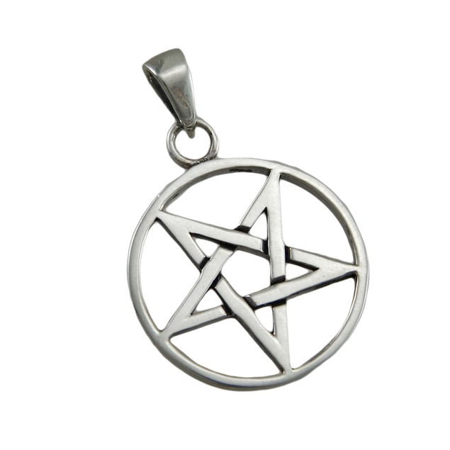 Sterling Silver Inverted Pentagram Pendant Individual Pendants