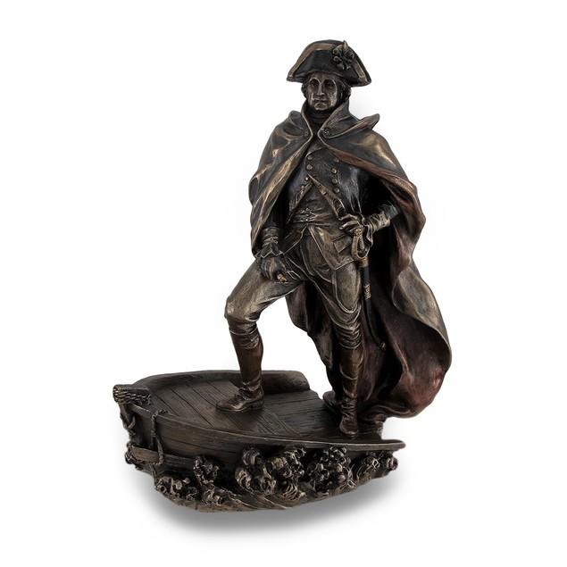 Bronze Finish George Washington Delaware Crossing Statues