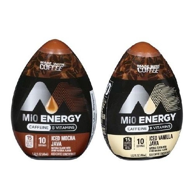 MiO Energy Iced Java Iced Coffee Concentrate 2 Bottle Variety Pack