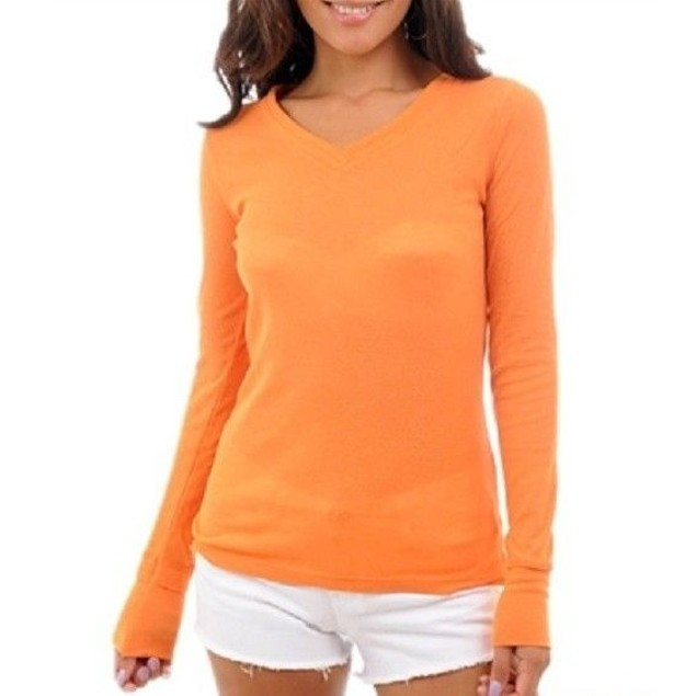 Orange Long Sleeve Juniors Thermal New