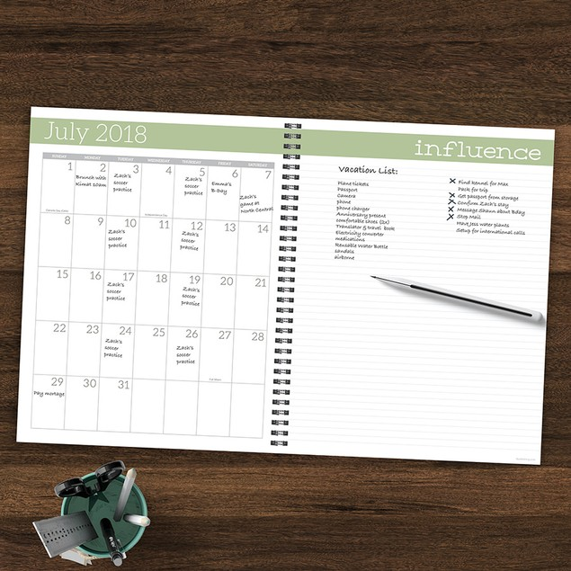 July 2018 - June 2019 Academic 12 Month Teacher Planner / Lesson Plan Book