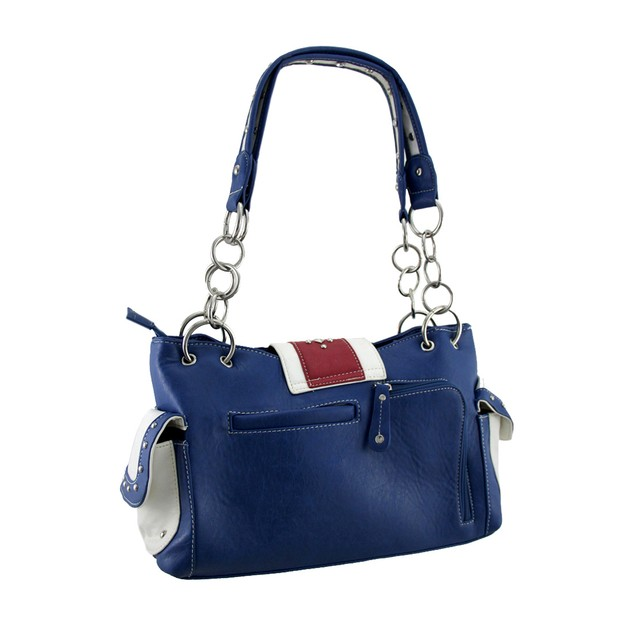 American Flag Rhinestone Buckle Western Style Womens Shoulder Handbags