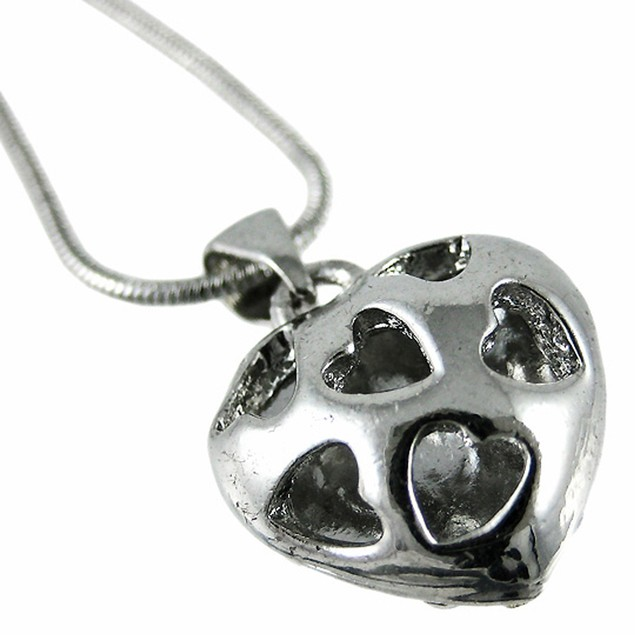 Cool Crystal Rhinestone Heart Necklace Pendant Womens Pendant Necklaces