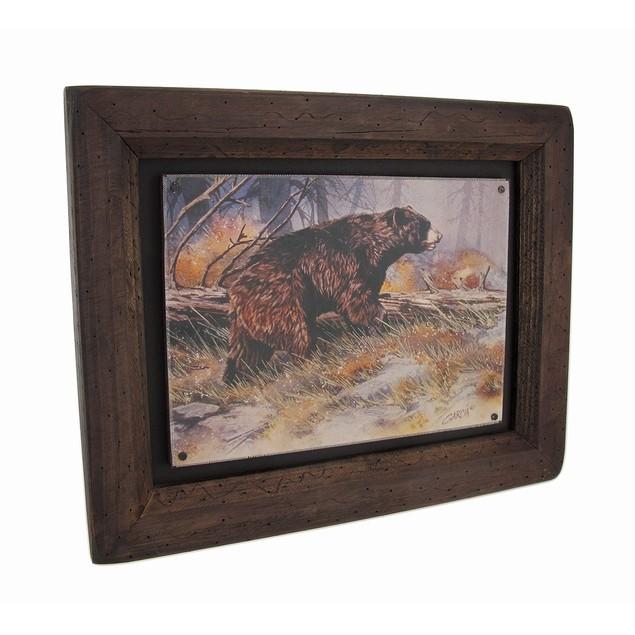 Big Sky Carvers Black Bear Bruin Wood Frame Wall Prints