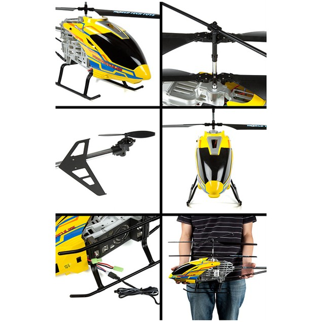 3.5 ch Mega Hercules Remote Control UNBREAKABLE Gyro Helicopter