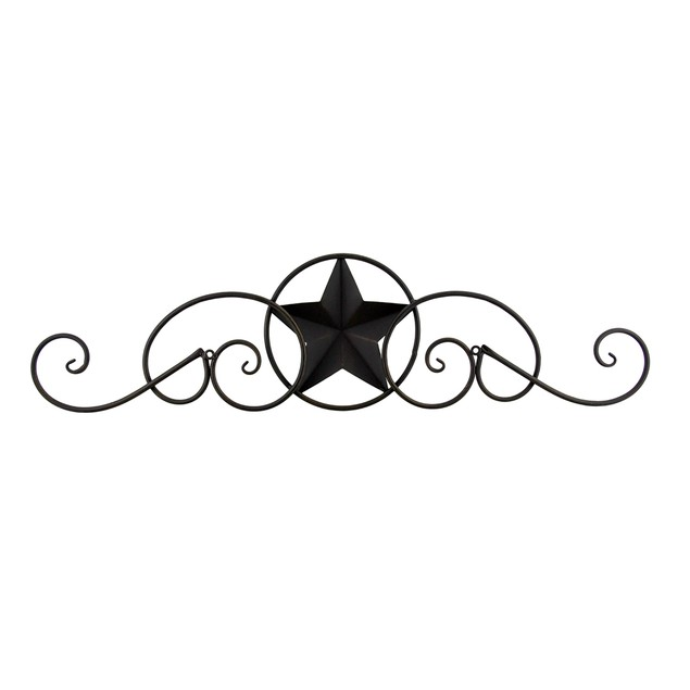 Scrolling Metal Western Star Decorative Wall Decorative Plaques