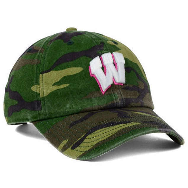 """Wisconsin Badgers NCAA 47' Brand """"Fashion"""" Clean Up Adjustable Hat"""