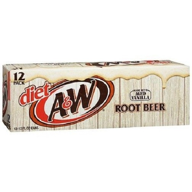 A&W Diet Root Beer Soda 12 Pack of Cans