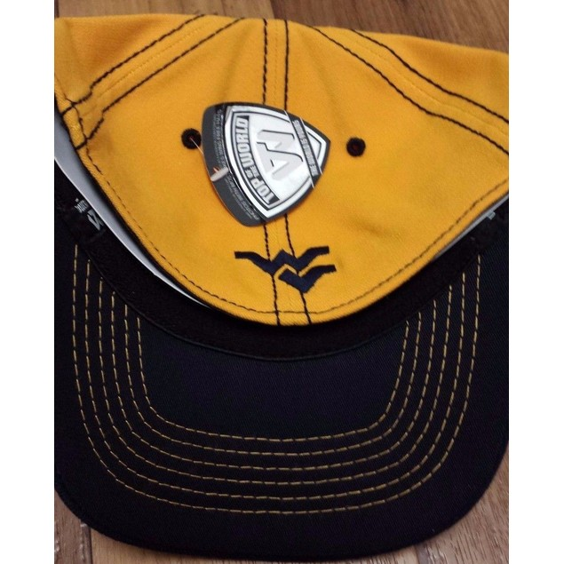 """West Virginia Mountaineers NCAA TOW """"Deflection"""" Stretch Fitted Hat"""