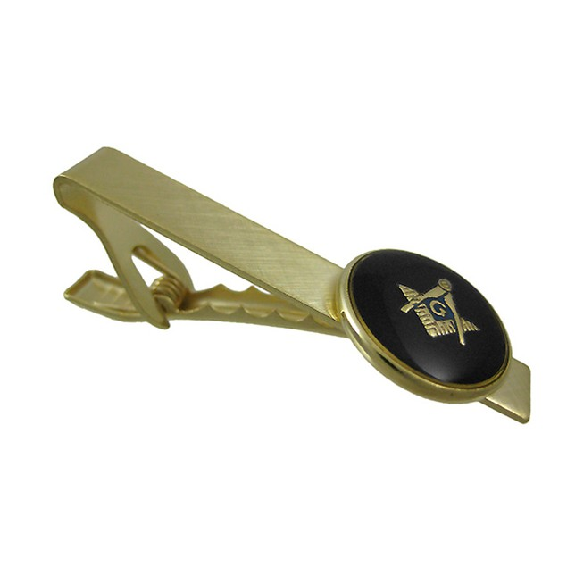 Masonic Compass & Square Tie Clip Clasp Masons Mens Tie Clips