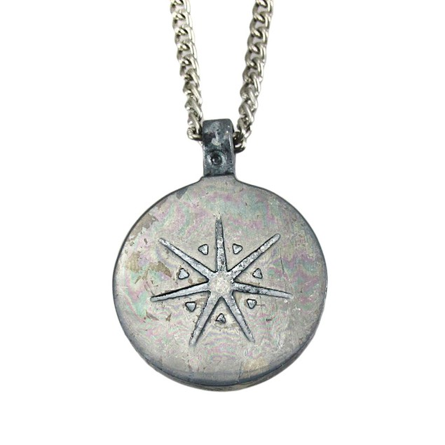 Brass / Pewter Travel Talisman Pendant Safe Mens Pendant Necklaces