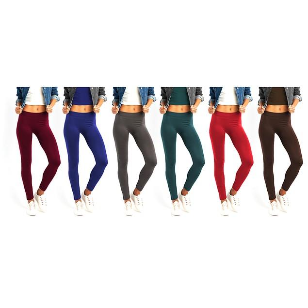 6-Pack: Women's High Rise Leggings