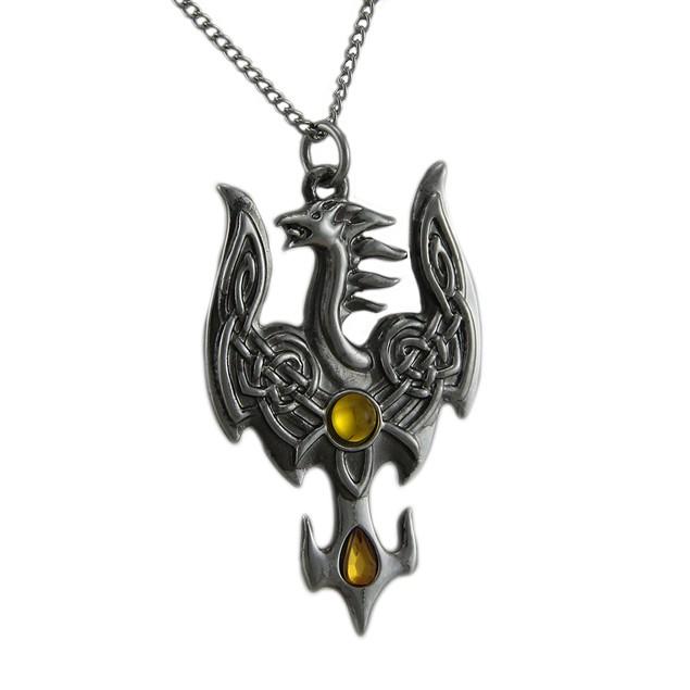 Avalonian Phoenix Pendant / Necklace For Fruitful Mens Pendant Necklaces