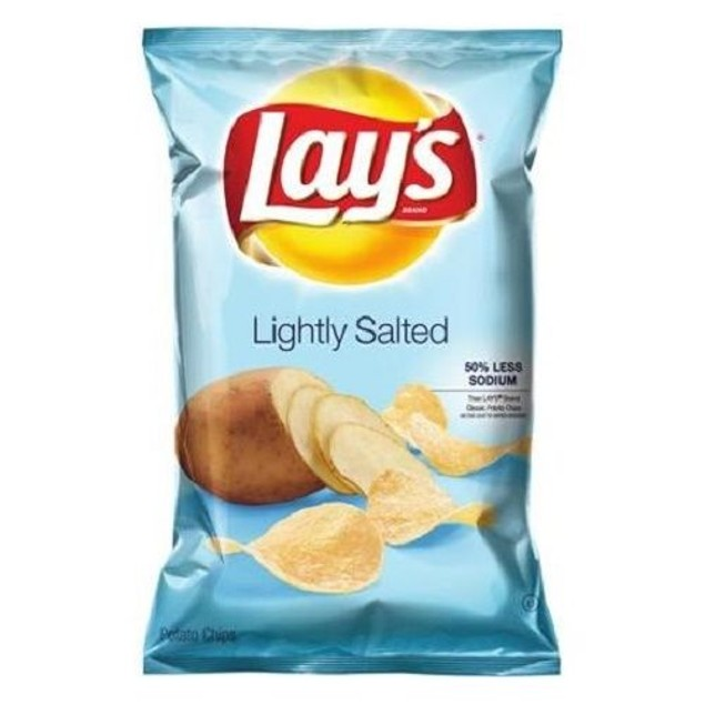 Lay's Lightly Salted Potato Chips 2 Bag Pack