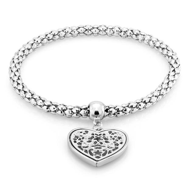 Filgree Heart Charm Bracelet - 3 Colors