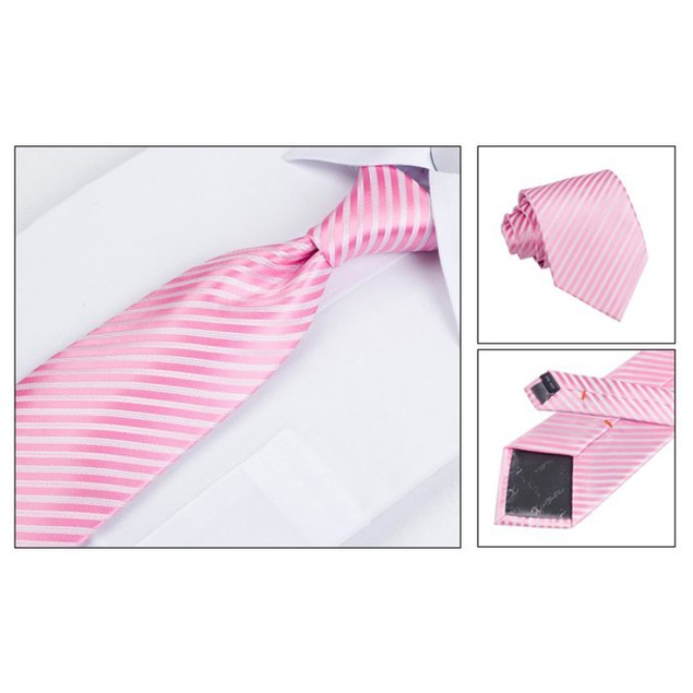 Men's Dress Suit Tie Set - Pink