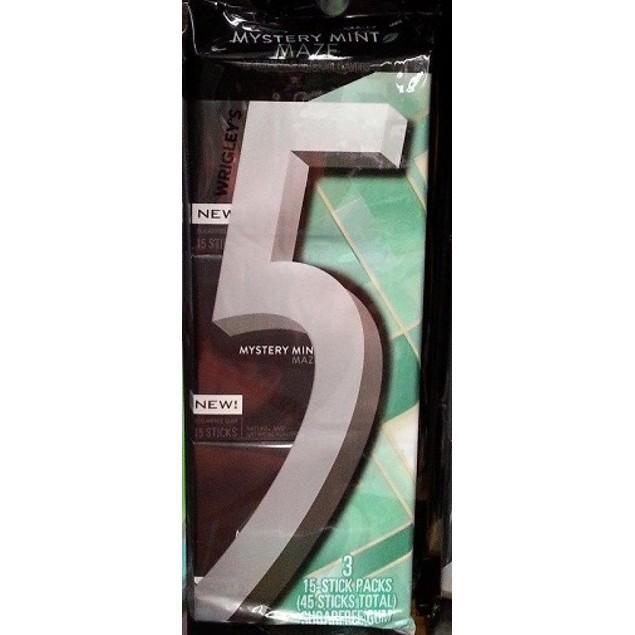 Wrigley's 5 Mystery Mint Maze Gum 3 pk