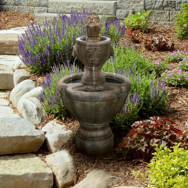Pure Garden Lion Head Fountain