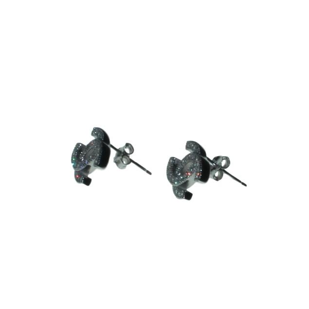 Eli K Sterling Silver Double CC Earrings