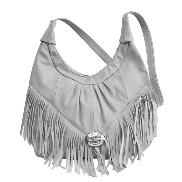 Super Soft Mexican Leather Hobo with Fringe
