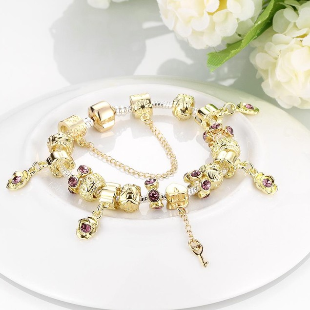 Golden Ruby Designer Inspired Bracelet