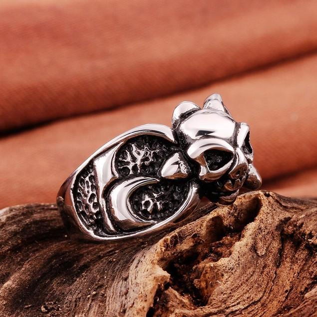Mini Stainless Steel Skull Ring