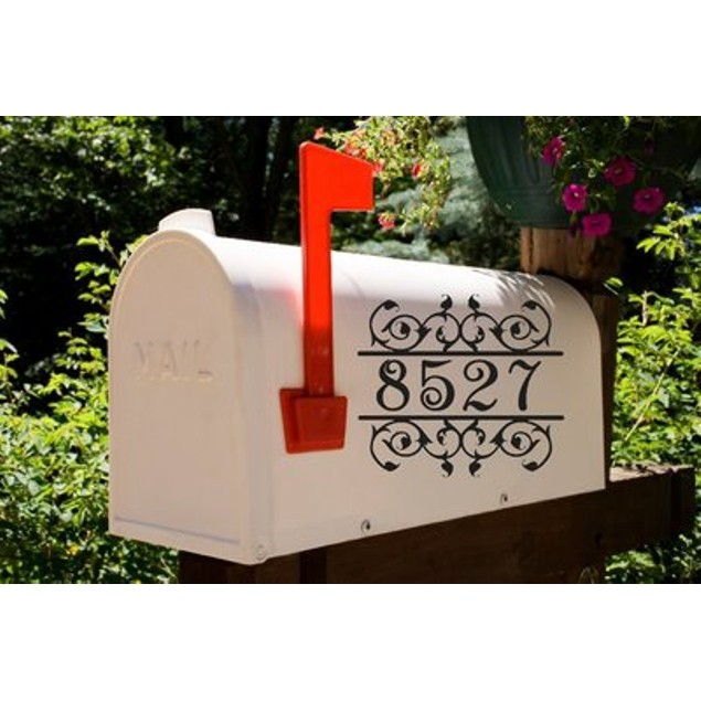 Vine Split Frame Mailbox Decal