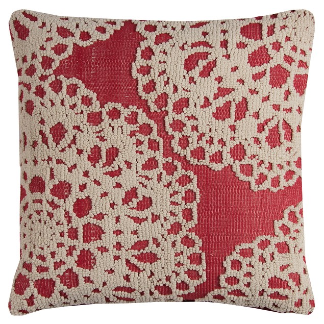 "Rizzy Home T11517 20"" X 20"" Throw Pillow With Throw Pillows"