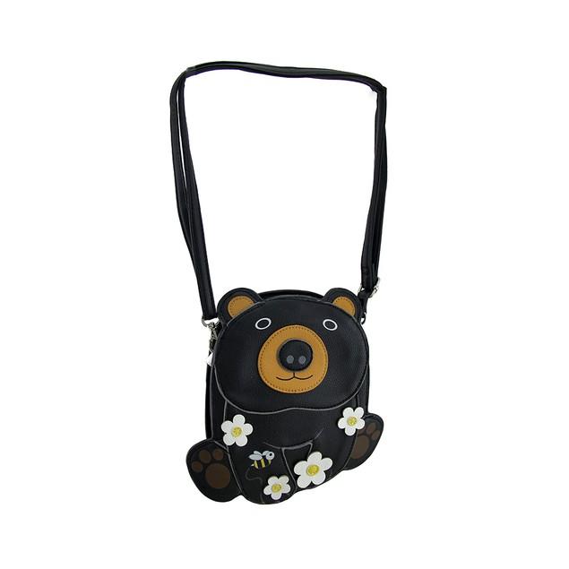 Sleepyville Critters Cuddle Bear Blossoms Womens Cross Body Bags