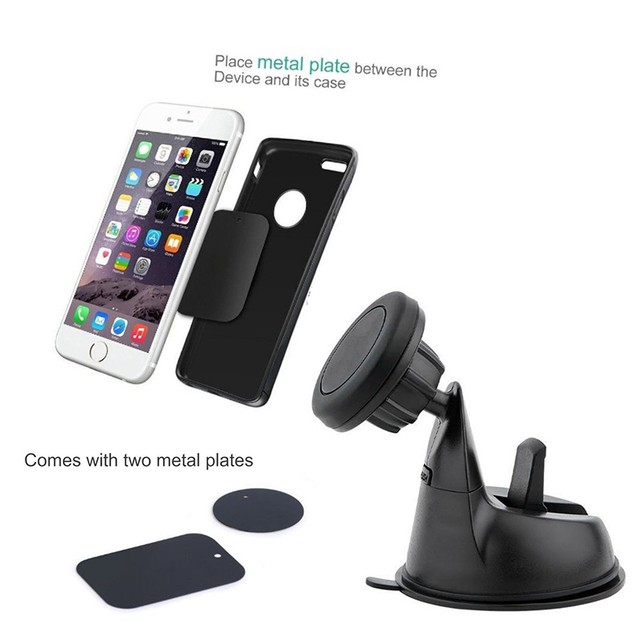 Encust Universal 3 in 1 Dashboard Magnetic Car Mount Phone Holder