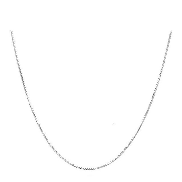 "Sterling Silver 1.1mm Italian Box Chain, 16""-20"""