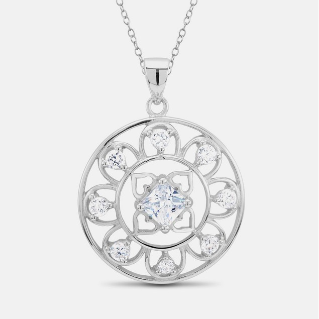 Sterling Silver Swarovski Elements Ladies Necklace