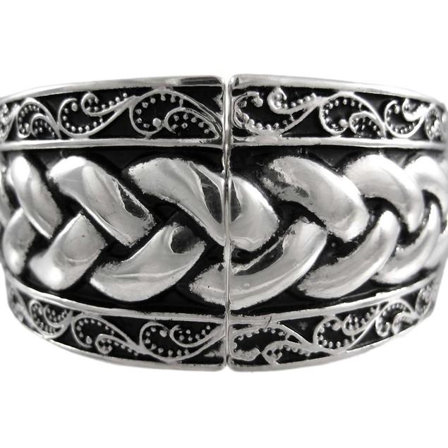 Celtic Endless Knot Silvertone Stretch Bracelet Womens Stretch Bracelets