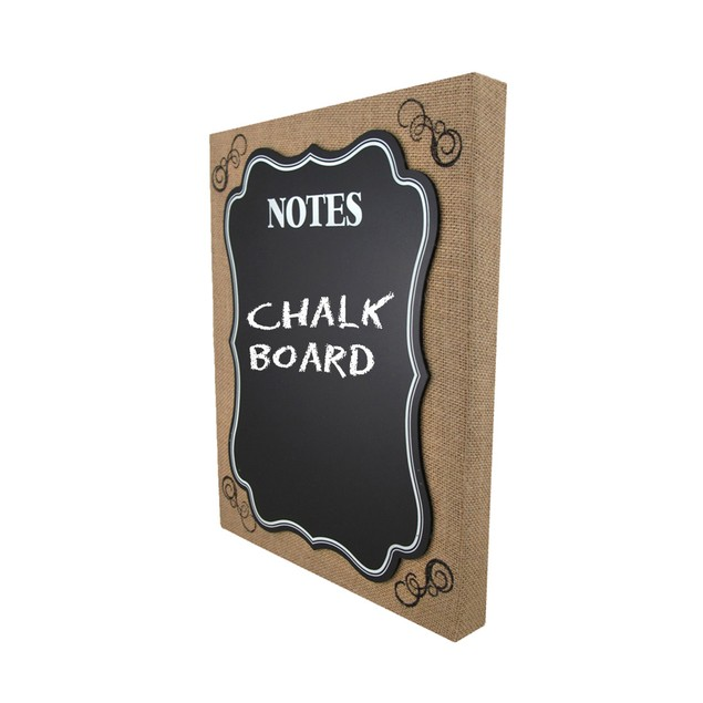 Burlap Framed Wall Mounted Chalkboard Memo Board Decorative Plaques