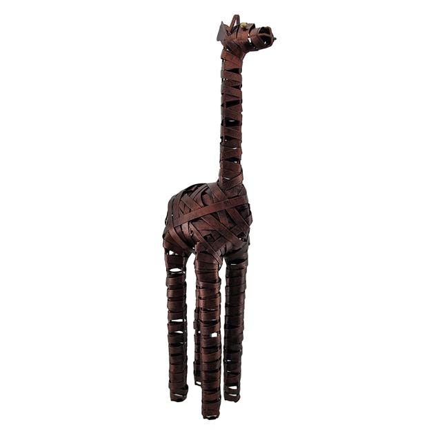 Antique Copper Finish Decorative Giraffe Sculpture Statues