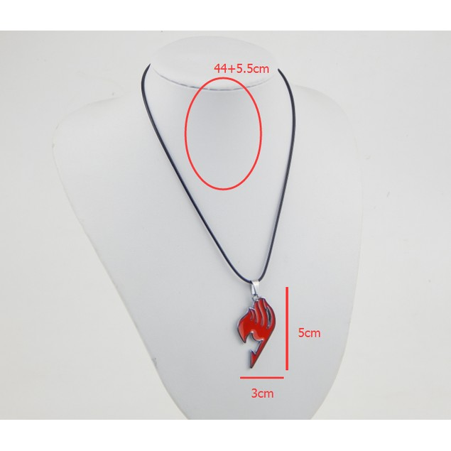 Fairy Tail Natsu Dragneel Guild Red Pendant Necklace