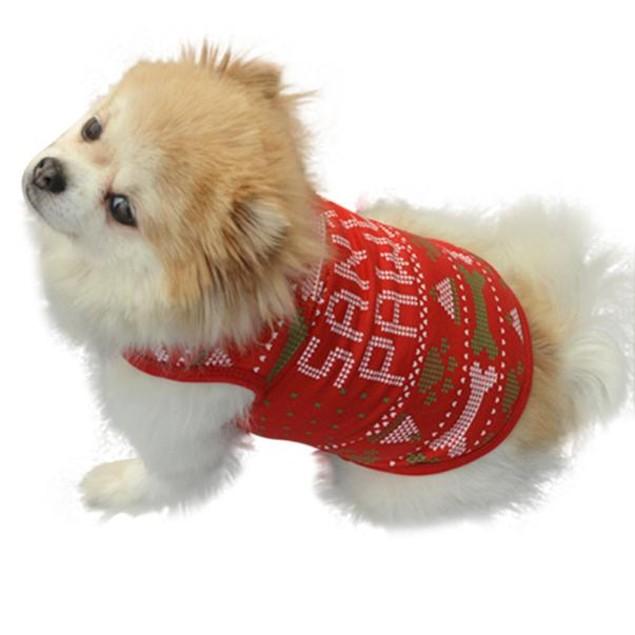 Christmas Bones Pet Vest Cotton T-Shirt