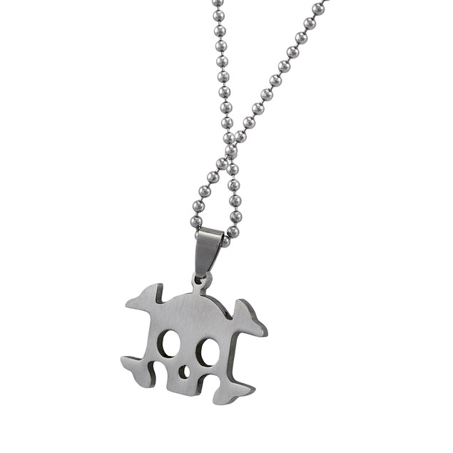 Stainless Steel Skull And Crossbones Pendant On Mens Pendant Necklaces
