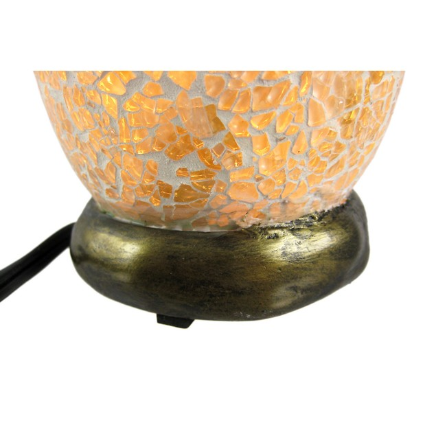 Alligator Hatchling Crackle Glass Table Accent Accent Lamps