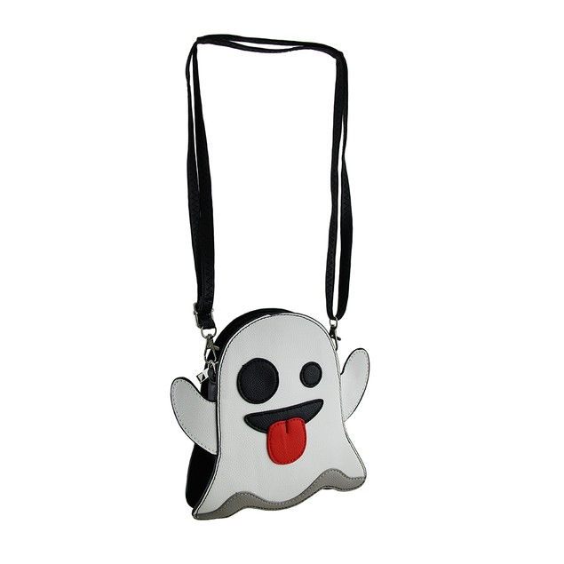 Silly Specter Taunting Ghost Vinyl Crossbody Purse Womens Cross Body Bags