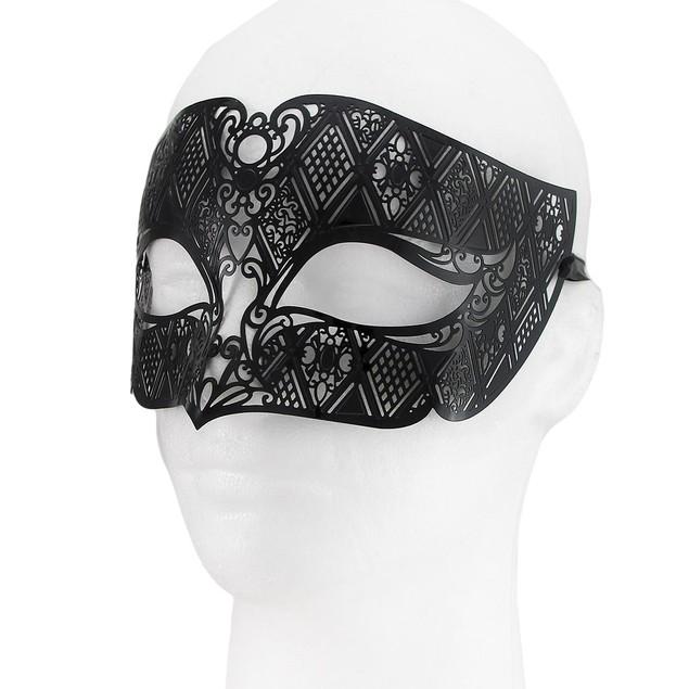 Lacy Black Venetian Style Half Face Fantasy Mens Costume Masks