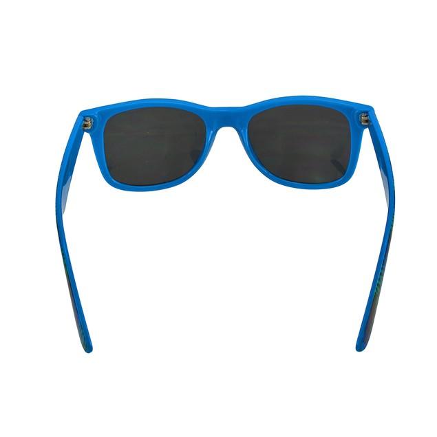 Blue Mirrored Lens Sunglasses With Zebra Striped Mens Sunglasses