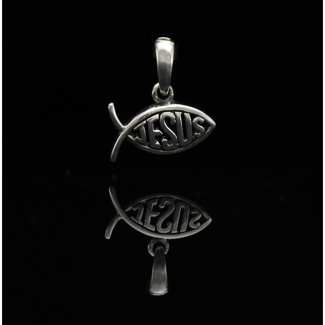 Sterling Silver Jesus Fish Ichthys Pendant/Charm Pendants