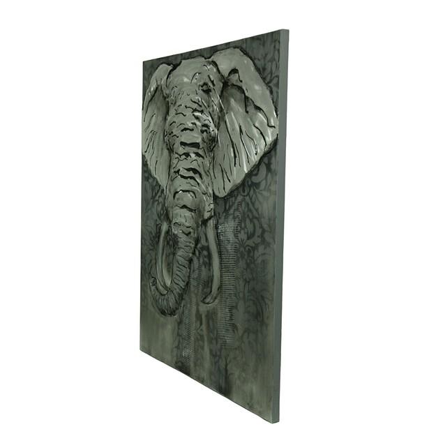 Elegant Metallic Elephant Canvas Art Wall Hanging Prints
