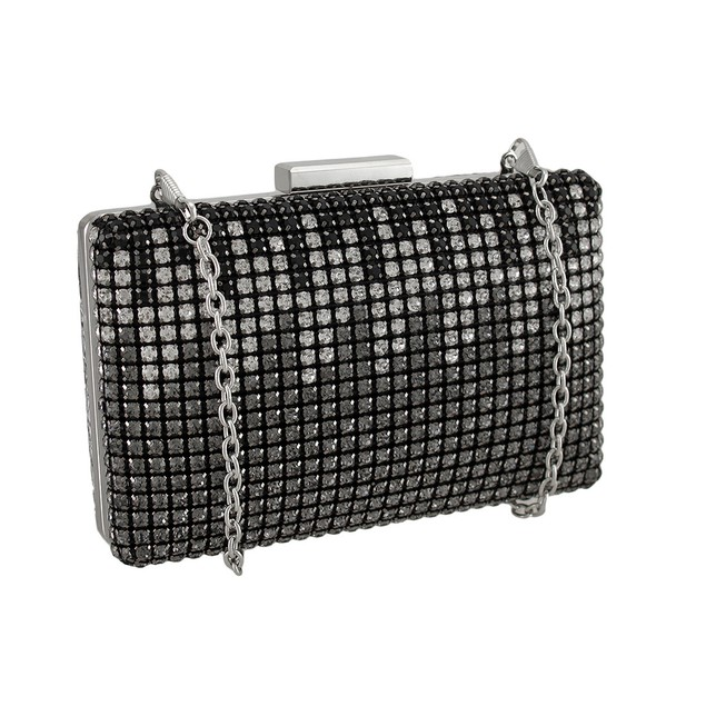 Rhinestones And Snakeskin Clutch Purse Womens Clutch Handbags