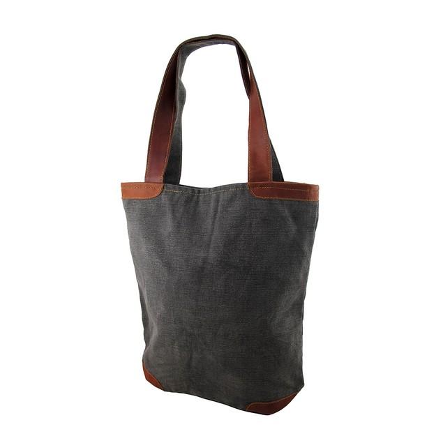 1829 Bordeaux No. 03 Grey Canvas Tote Bag Womens Tote Bags