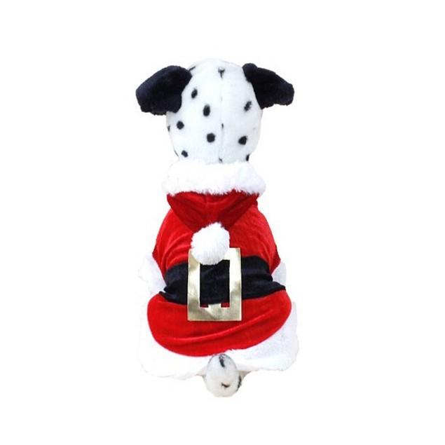 Christmas Santa Dog Costume