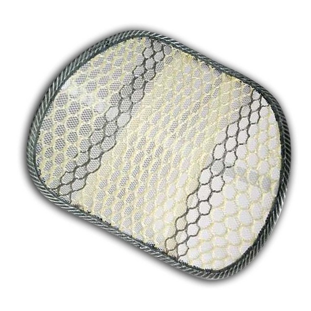 Zone Tech Mesh Hollow Car Chair Seat Beige Back Spine Lumbar Support Pillow